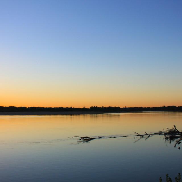 """""""sunset on the missouri"""" stock image"""