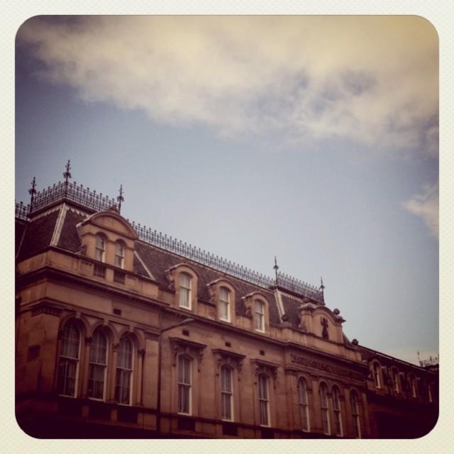 """Old building in Edinburgh (Retro)"" stock image"