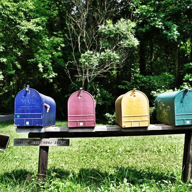 """Country mailboxes"" stock image"
