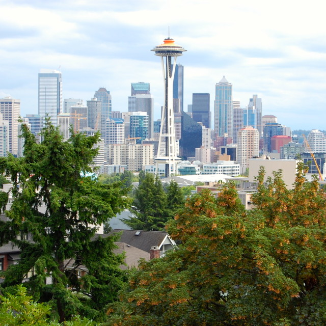 """View From Kerry Park Seattle"" stock image"