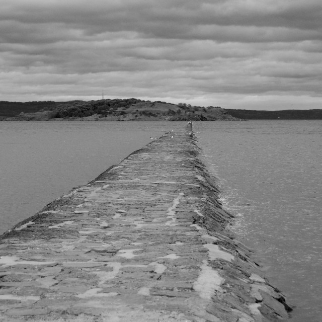 """Cramond Causeway, Edinburgh"" stock image"