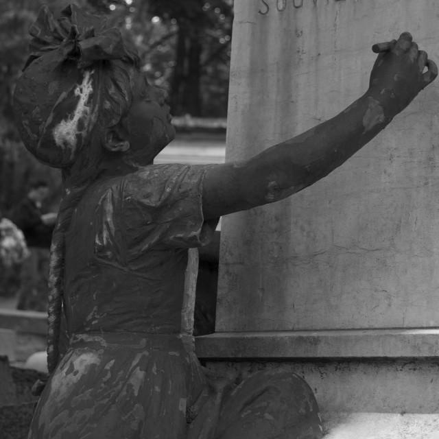 """""""Père Lachaise Cemetery, Paris"""" stock image"""