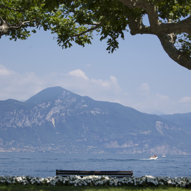 """Lake Garda, Italy"" stock image"