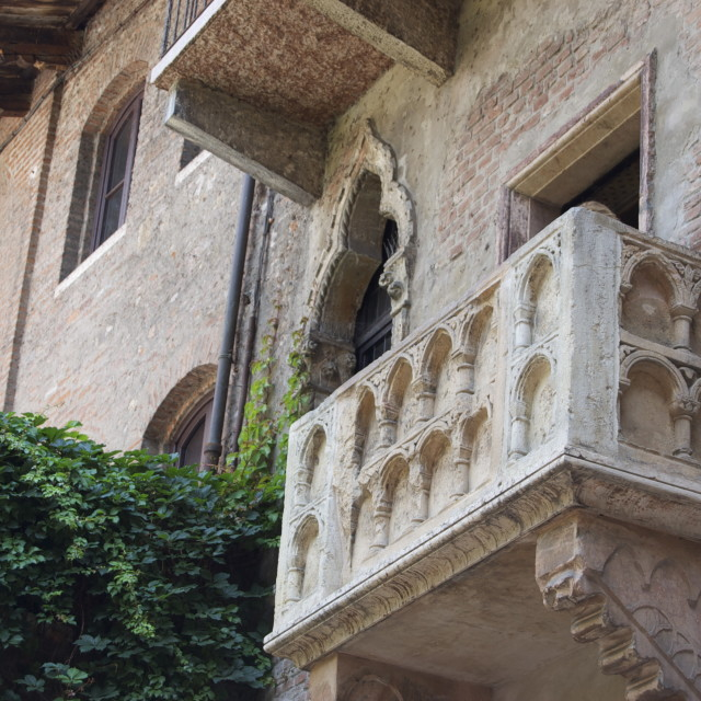 """""""Juliet's Balcony, Verona, Italy"""" stock image"""