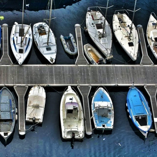 """Boats in line"" stock image"