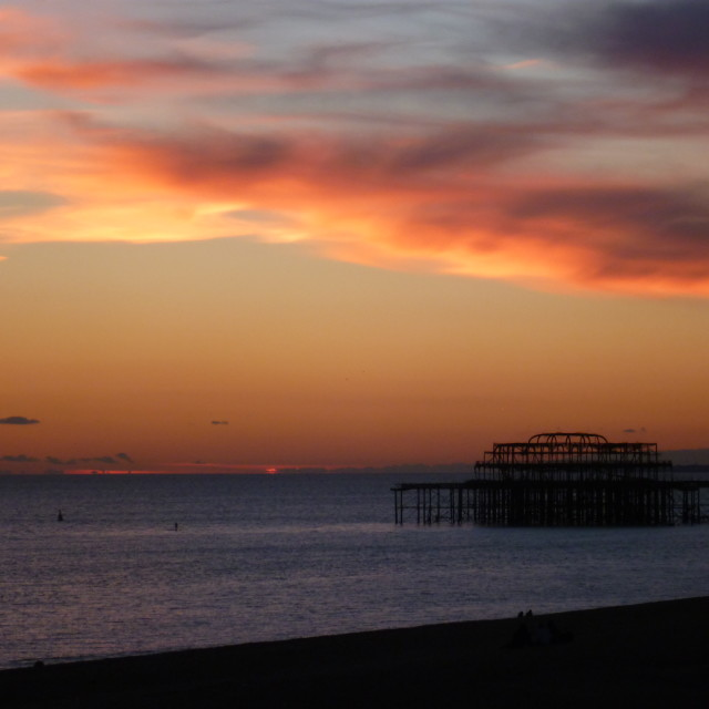 """Goodnight West Pier"" stock image"