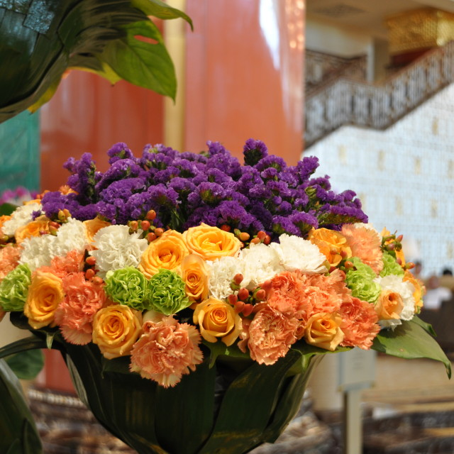 """Hotel Flower Arrangement"" stock image"