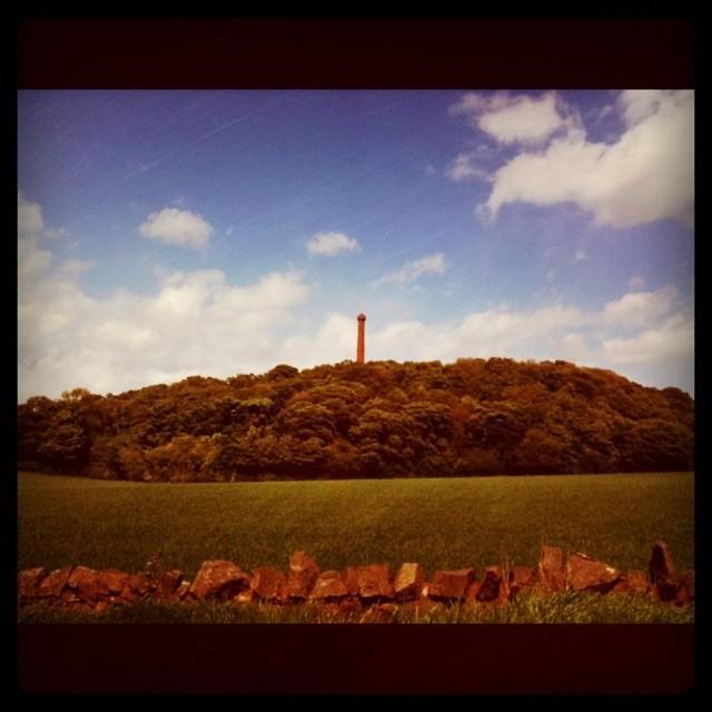 """Hopetoun Tower in East Lothian (Retro)"" stock image"