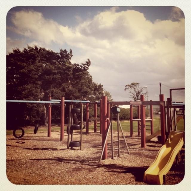 """Children's play park (Retro)"" stock image"