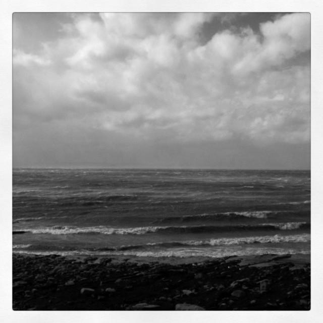 """Stormy seascape (Retro)"" stock image"