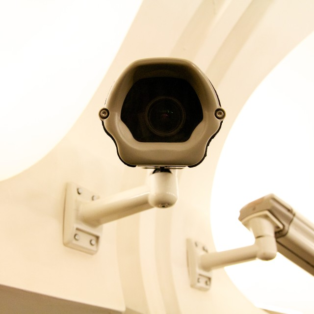 """You are being watched"" stock image"