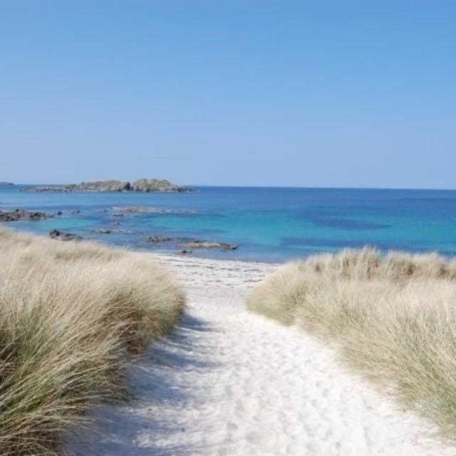 """Iona Beach, Scotland"" stock image"