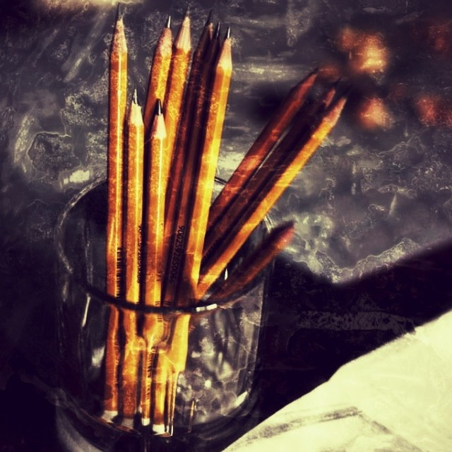 """Artist pencils"" stock image"