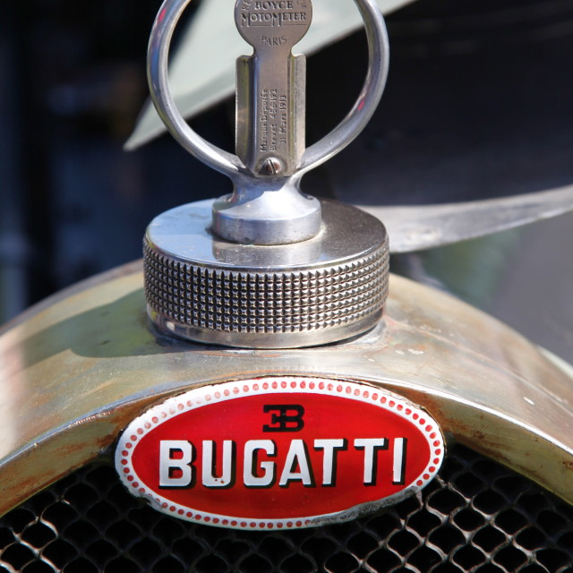 """Bugatti Badge"" stock image"