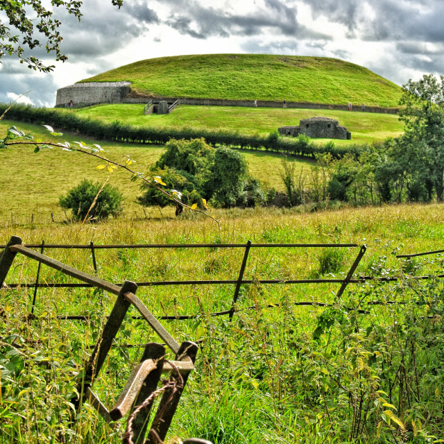 """Newgrange view from behind"" stock image"