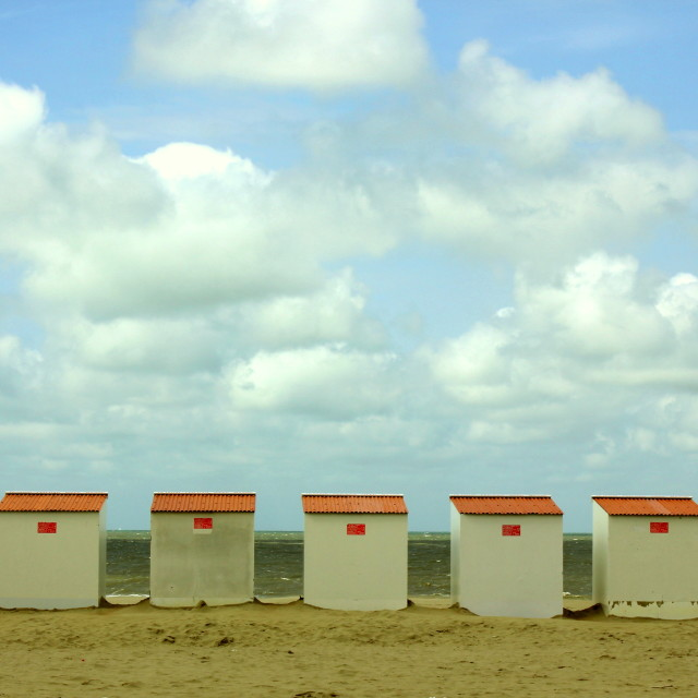 """Beach Cabins"" stock image"