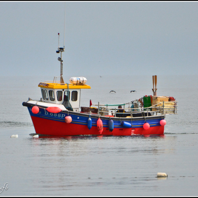 """Colourful Trawler Skerries"" stock image"