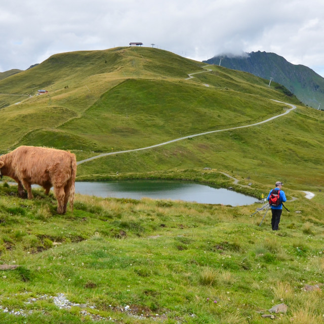 """Austrian mountain walk"" stock image"
