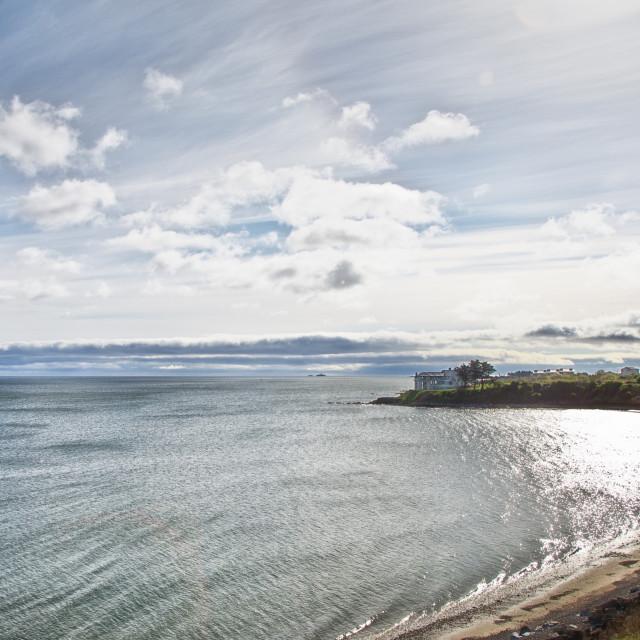 """Barnageeragh Beach"" stock image"