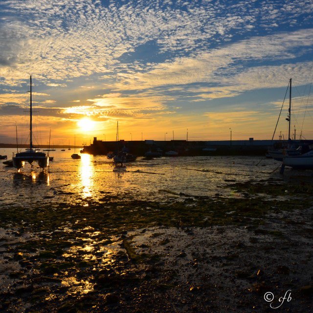 """Skerries Harbour Sunset"" stock image"