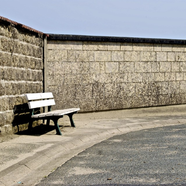 """Lonely Bench"" stock image"