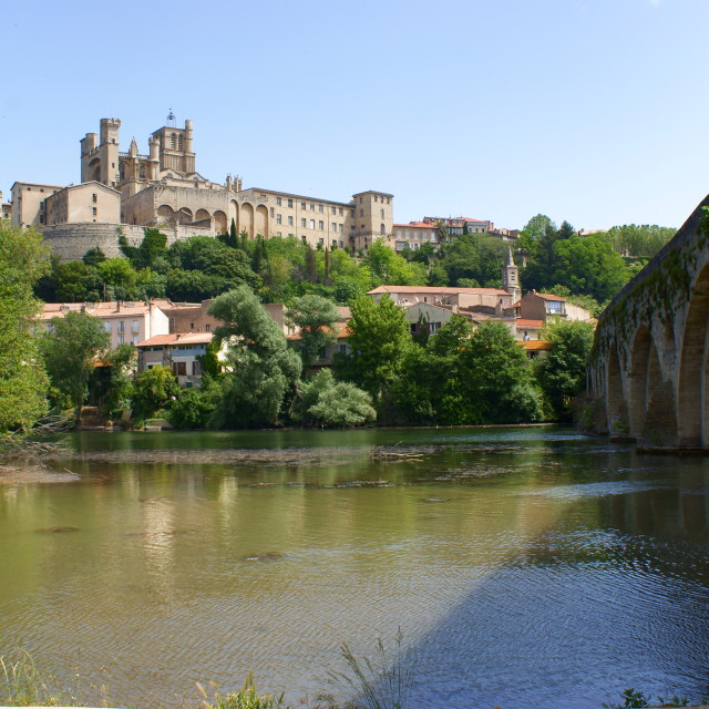 """Beziers Cathedral, France"" stock image"
