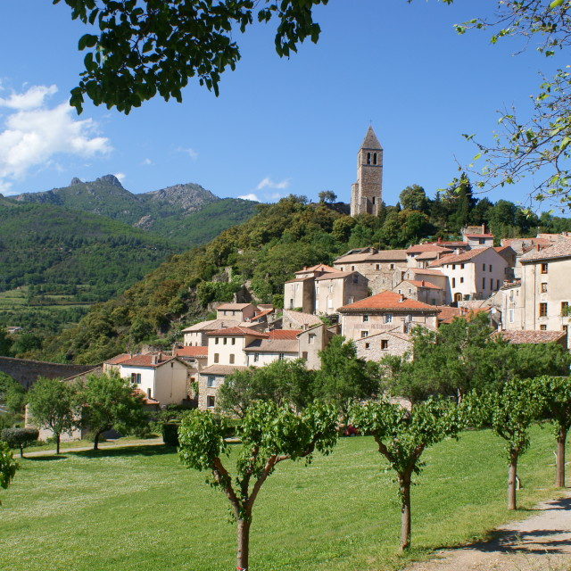 """Olargues Village, France"" stock image"