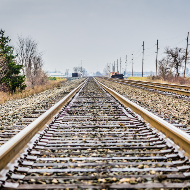 """""""Lonely Rail"""" stock image"""