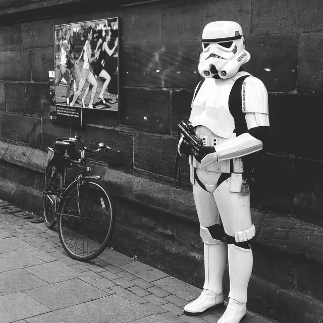 """The York Stormtrooper"" stock image"