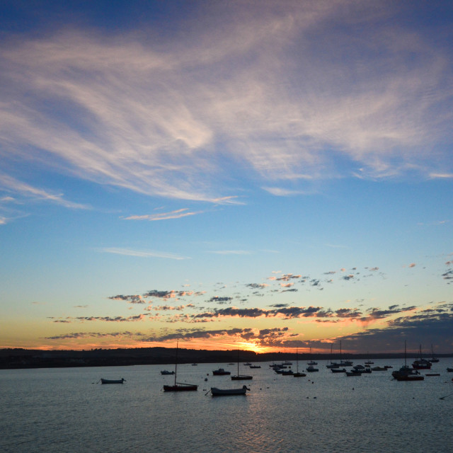 """Skerries Sunset"" stock image"