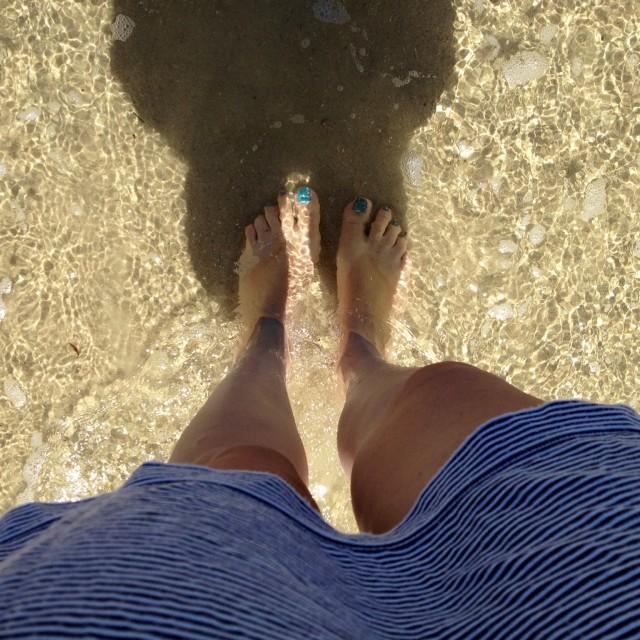 """Feet in the Sea"" stock image"