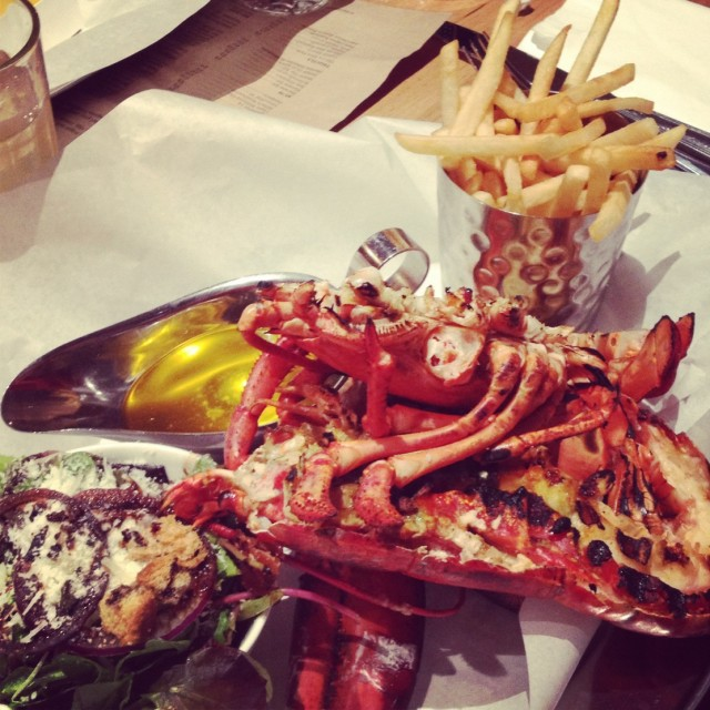 """""""Lobster Dinner"""" stock image"""