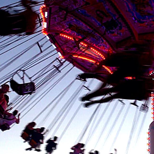 """Merry Go Round - Night"" stock image"