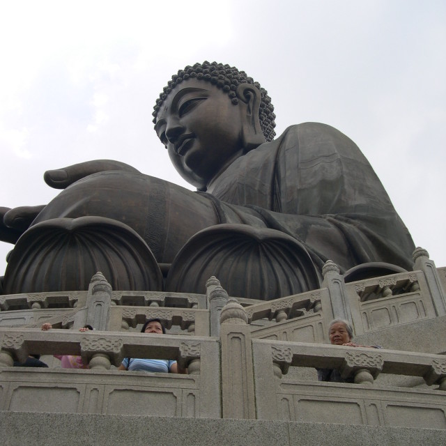 """Tian Tan Buddha in Hong Kong"" stock image"