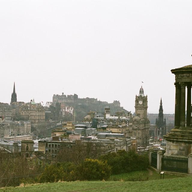 """""""Edinburgh's panorama."""" stock image"""