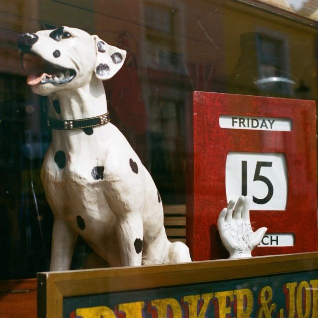"""Shop front on Portobello Road Market"" stock image"