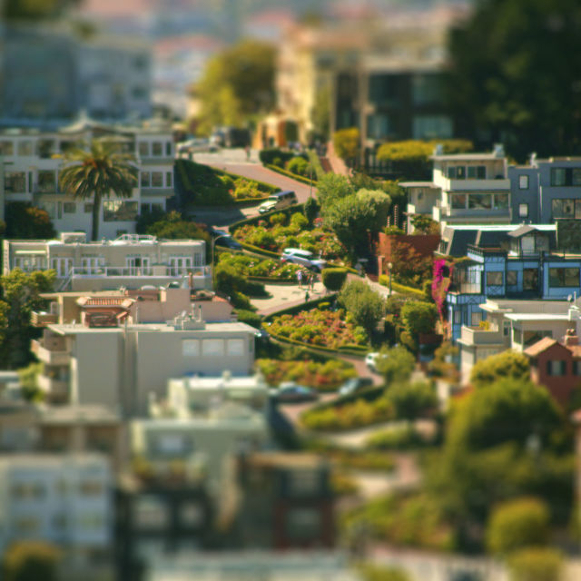 """Lombard Street"" stock image"