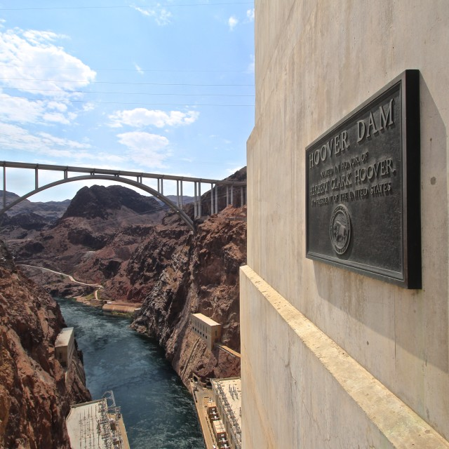 """Hoover Dam"" stock image"