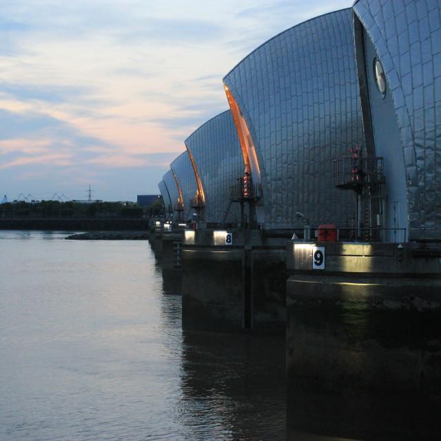 """Thames Barrier"" stock image"