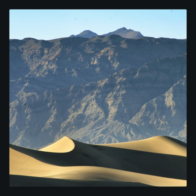 """Dune in Death Valley"" stock image"