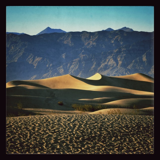 """Death Valley sand dunes"" stock image"