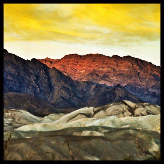 """Sunset Death Valley"" stock image"