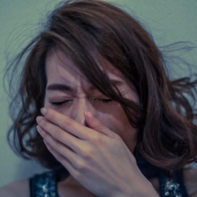 """Yawn? Sneeze? Cough?"" stock image"