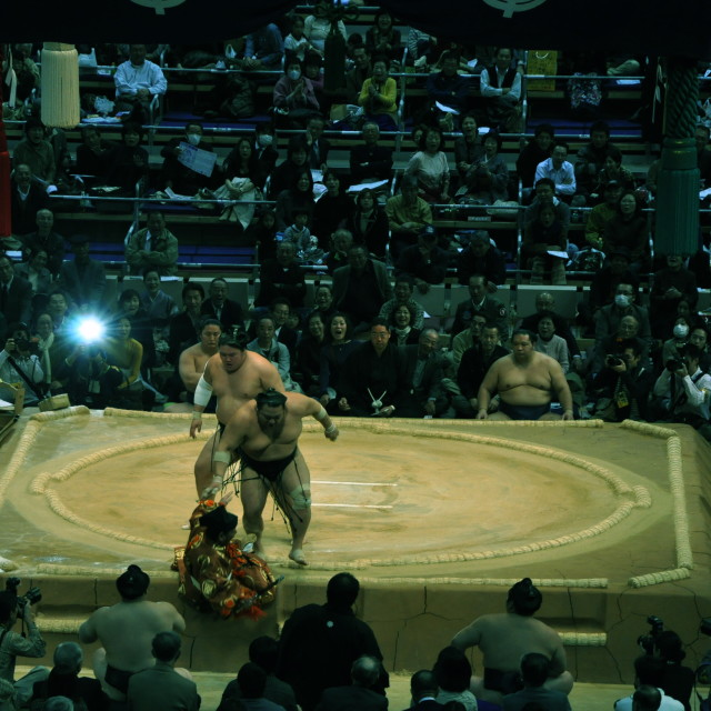 """Sumo bout"" stock image"