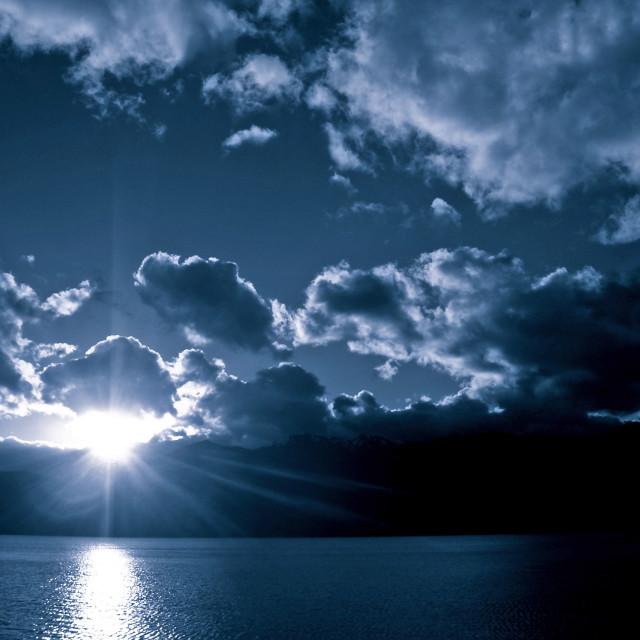 """""""Lake Te Anau, NZ"""" stock image"""