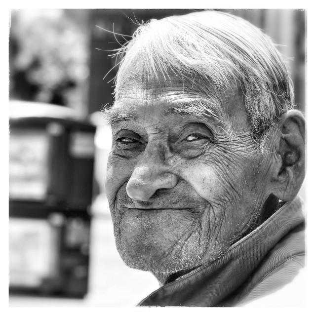 """""""Old man of San Fransisco"""" stock image"""
