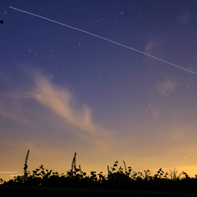 """International Space Station Pass Over"" stock image"