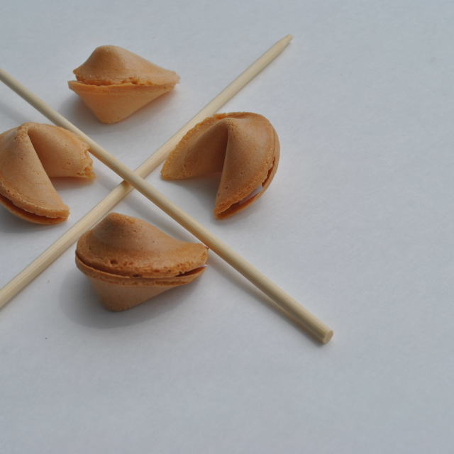 """fortune cookies and chopsticks"" stock image"