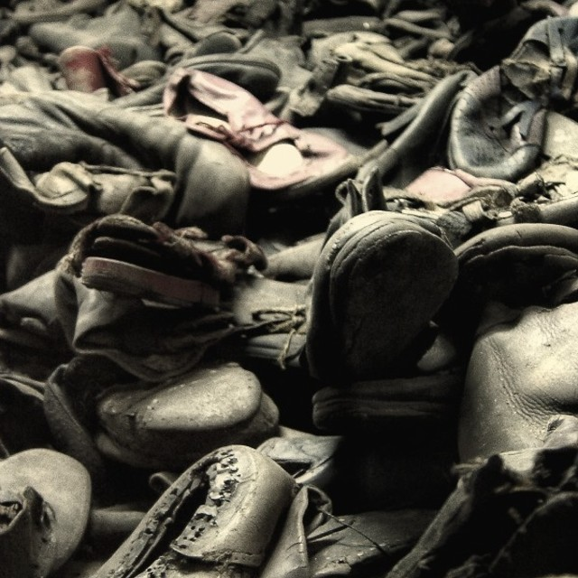 """Shoes at Auschwitz"" stock image"