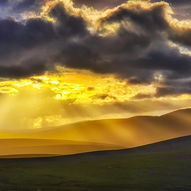 """sunset over the cairngorms"" stock image"